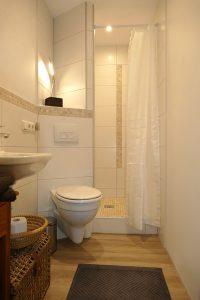 """Separates Schlafzimmer """"Mittagsonne"""" en Suite Bad mit Dusche und WC"""